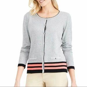 Karen Scott stripe Hem Cardigan Style: 100034984MS